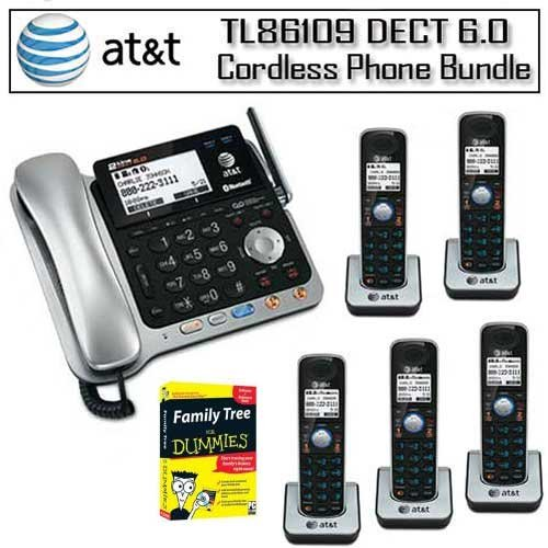 Review ATT TL86109 DECT 60 2 Line Bluetooth Cord Cordless Phone System With 5 Expandable Handsets Bundle