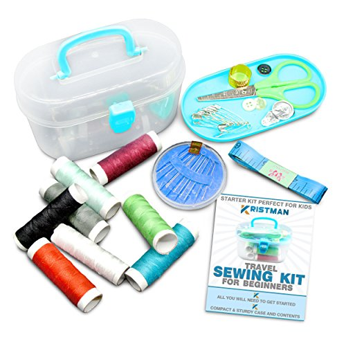 Kristman Beginners Travel Sewing Kit with Portable Case Has All the Supplies You Need (Portable Sew Kit compare prices)