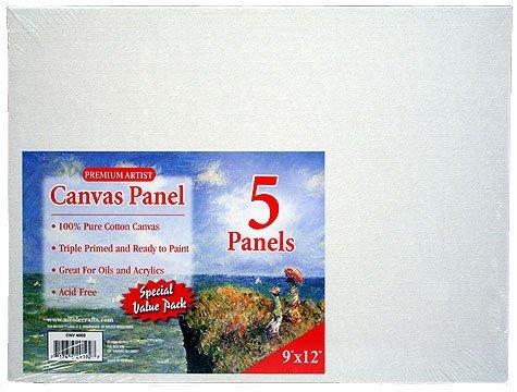 Pre-primed Canvas Panels ~9x12