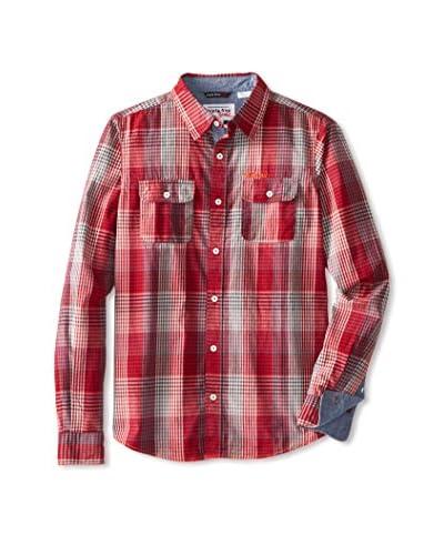 Triple Five Soul Men's Plaid Long Sleeve Shirt