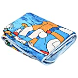 SS Sales Cartoon Blue Doraemon Ac Single Microfiber Blanket (54 X 84 Inches, Multicolor)