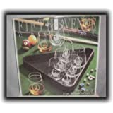 Billiard Barware Set ~ Crystal Clear