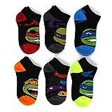 TMNT Ninja Turtles Boys 6 pk Ankle Socks