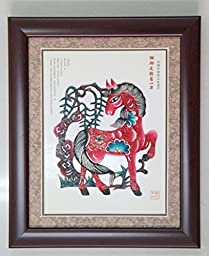Framed Image of Shadow Puppet Shows (Horse)
