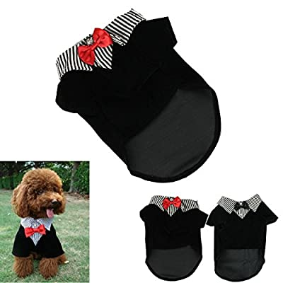 Voberry®New Arrival Fashion Small Pet Dog Clothes Western Style Men's Suit Bow Tie Puppy Sweater Costume