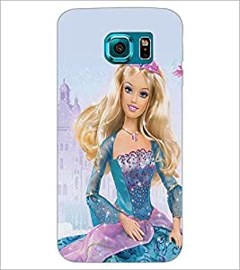 PrintDhaba Barbie Queen D-1024 Back Case Cover for SAMSUNG GALAXY S6 EDGE (Multi-Coloured)