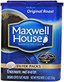 Maxwell House Original Roast Ground Coffee, 10-Count Filter Packs (Pack of 4)
