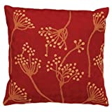 Zaida 1-Piece 45 x 45 cm Wool/ Cotton Cow Parsley, Red
