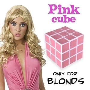 Casse-tête Cube pour blonde - Pink cube for blondes only - Farce et attrape