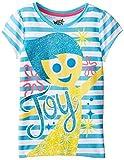 Disney Little Girls' Inside Out Joy Tee, Blue, 6