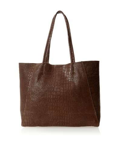 Streets Ahead Women's Classic Small Tote Bag, Grooved Teak Croco, One Size