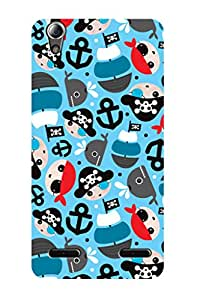 ZAPCASE PRINTED BACK COVER FOR LENOVO A6000 - Multicolor