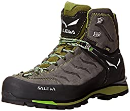 Salewa Men\'s MS Rapace GTX Mountaineering Boot, Pewter/Emerald, 9.5 M US