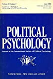 img - for Political Psychology (Journal of the International Society of Political Psychology, Volume 6, Number 2) book / textbook / text book