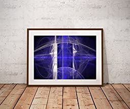 The Blue Storm - Abstract Art print