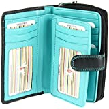 Visconti Large Multi Compartment Leather Purse / Wallet For Ladies - (CD22)
