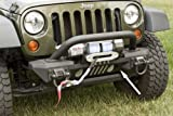 Rugged Ridge 11541.01 XHD Aluminum Front Bumper with Winch for Jeep Wrangler JK