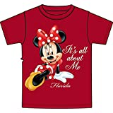 Disney Minnie Mouse 'It's All About Me' Girls T Shirt - Red