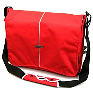 "Hercules ""Super Strong"" LP-1700R 17-Inch Laptop Messenger Bag (Red)"