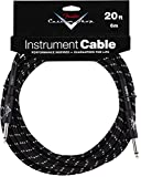 Accessoires guitares FENDER CUSTOM SHOP CABLE POUR INSTRUMENT 6M COUDE TWEED NOIR Cables instrument