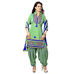 Stylo Fashion Women's Un-Stitched Dress Material (Green_Free Size)