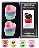 HPK-INDIA Microwave & Freezer & Backing Tray Safe & Reusable Silicon Cup Cakes Assorted Colors - hpk branded box pack (10)