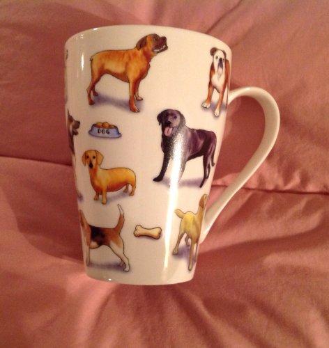 Cardew Mans Best Friend Bone China Mug, 15-Ounce, Set Of 4