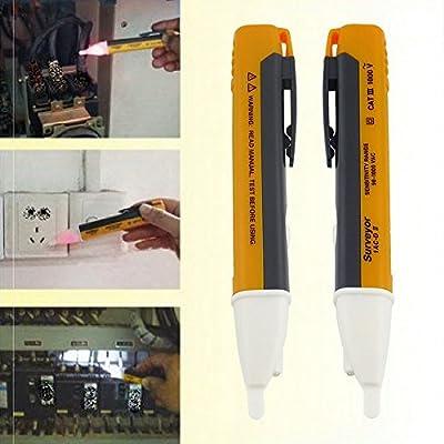 Huacam DGF13 2PCS Electric Socket Wall AC Power Outlet Voltage Alert Detector Sensor Tester Pen 90-1000V