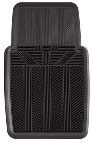 Kraco K2500BLACK 1-Piece Rubber Car Front Mat - Black
