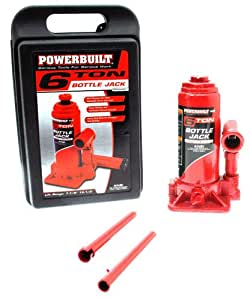Powerbuilt 640407 Heavy Duty 6-Ton Bottle Jack