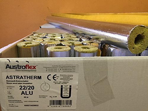 austroflex-pipe-insulation-22-x-20mm-filled-with-box-36m-contains-pipe-bowls-foil-laminated-rock-woo