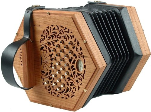 Peacock Duet Standard Concertina Handmade Concertina, Made in USA