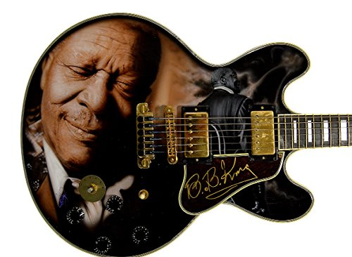 B.B. King Autographed Gibson Lucille Best Airbrush Guitar PSA LO