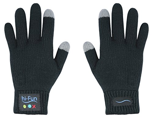Hi-Fun HFHiCALL-MBL Hi-Call Bluetooth Glove - Bluetooth Headset - Retail Packaging - Mens Black