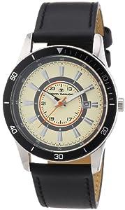 TOM TAILOR Herren-Armbanduhr XL Analog Quarz Leder 5411403