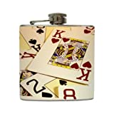 King of Hearts - Liquid Courage Flasks - 6 oz. Stainless Steel Flask