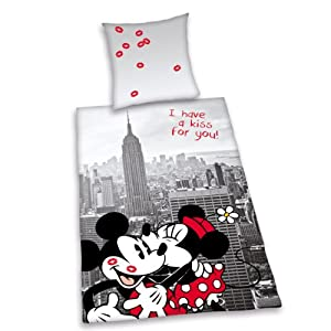 herding 487838077 st dte bettw sche disneys mickey mit minnie mouse new york kopfkissenbezug. Black Bedroom Furniture Sets. Home Design Ideas