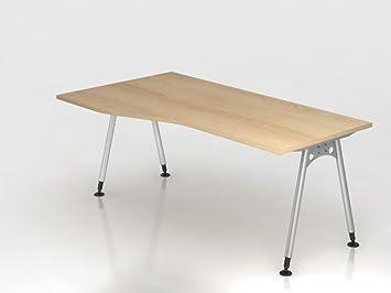 Supporto scrivania a 180x 100/80cm, rovere