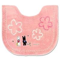 オカ トイレマット リサとガスパール お散歩 ピンク 約55×62cm
