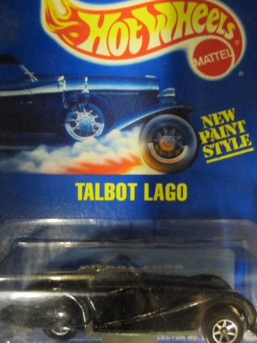 250 Talbot Lago 1995 Hot Wheels #250 Black with Seven Spokes on Solid Blue Card - 1