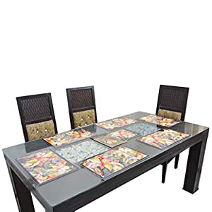 Thefancymart Reversable 6 Pcs Table Mats + 3 centre Bowl MAT + 6 Coasters  Code 1312 66  available at Amazon for Rs.42000