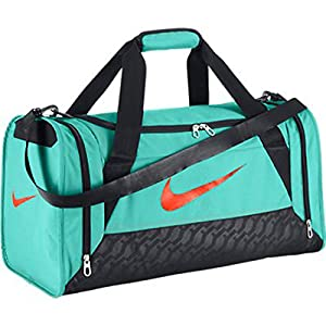 new nike brasilia 6 small duffel bag bleached turquoise bleached turquoise hyper. Black Bedroom Furniture Sets. Home Design Ideas