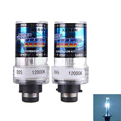Ecosin Fashion 2X 35W D2S/D2C Xenon Car Replacement HID White Headlight Light Lamp Bulbs (F) (Automobile Headlight Bulbs compare prices)