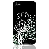 "ORIGINAL iProtect Iphone 4 / 4S Floral Case H�lle schwarz Retro HARDCASEvon ""iprotect"""