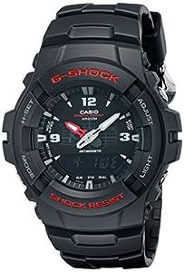 "Casio Men's G100-1BV ""G-Shock"" Watch in Black Resin"