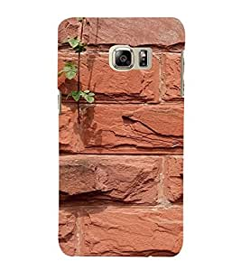 PrintVisa Brick Wall Design 3D Hard Polycarbonate Designer Back Case Cover for Samsung Galaxy S6 Edge+ Plus
