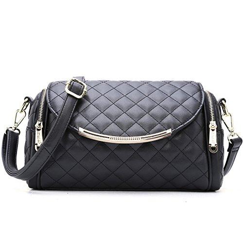 GQQ NUOVE borse a tracolla borse moda PU per Shopping Party e borsa lavoro GQ @ , black