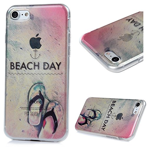 iPhone 7 Custodia Silicone Traparente Ultra Slim - MAXFE.CO Case Cover Morbido TPU Gel Shock-Absorption Bumper,Ultra Sottile Anti Slip - pantofole
