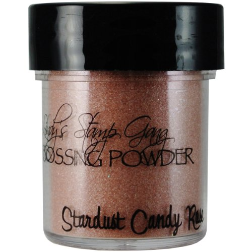 Lindy's Stamp Gang 2-Tone Embossing Powder, 0.5-Ounce Jar, Stardust Candy Rose