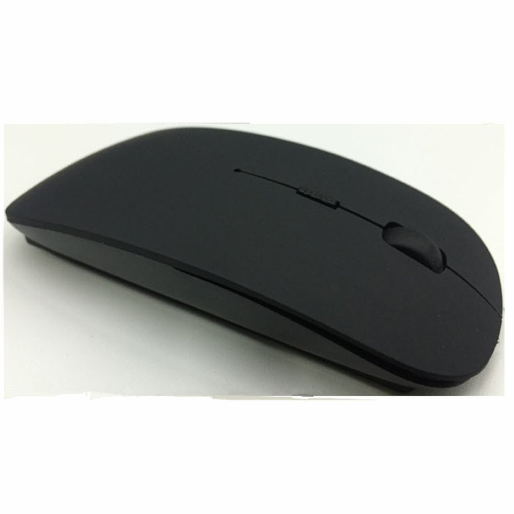 2.4 Ghz RF Black Wireless Mouse For Mac OS Macbook Pro / Air Laptop PC Windows XP / Vista / 7